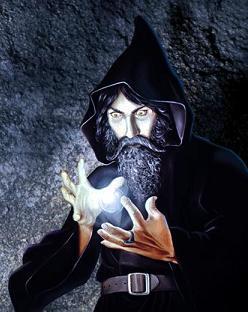 How we think of warlocks.  Dark, brooding, totally badass.